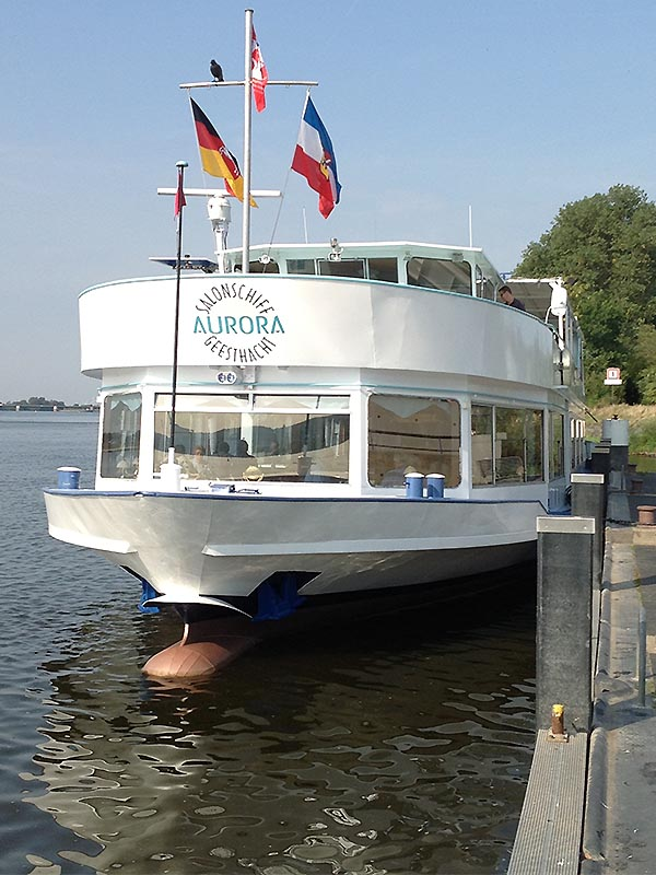 Salonschiff Aurora Geesthacht Schiffsanleger Steinstrasse 3