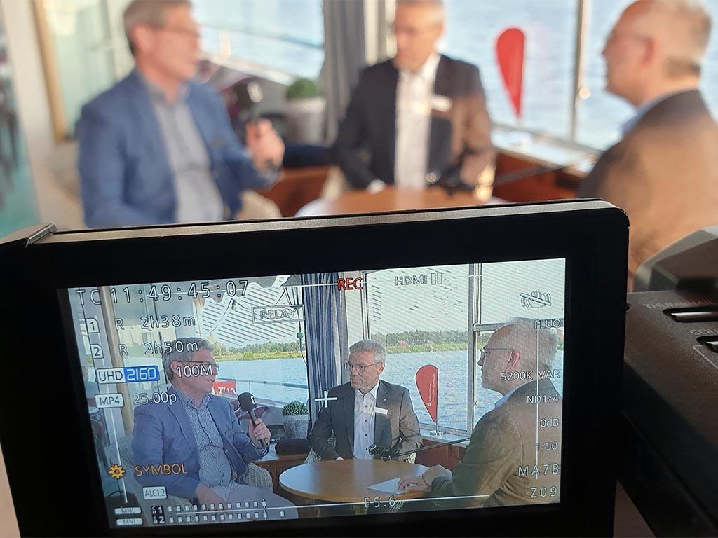 Salonschiff Aurora Geesthacht Videointerview auf Oberdeck