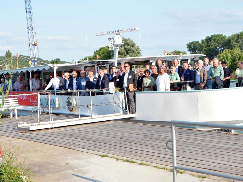 Salonschiff Aurora Geesthacht Elbefahrt für regionale Wirtschaft Aktiv Region Schleswig-Holstein